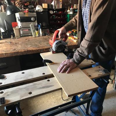 cortar madera con amoladora